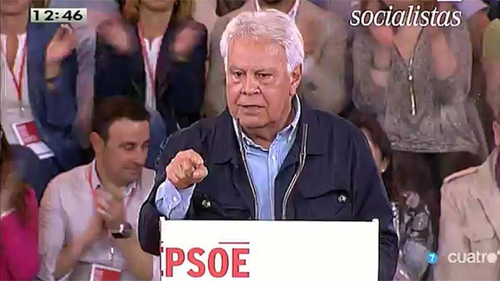 """Felipe González: """"No voté a Pedro Sánchez, pero le voy a apoyar todo lo que pueda"""""""