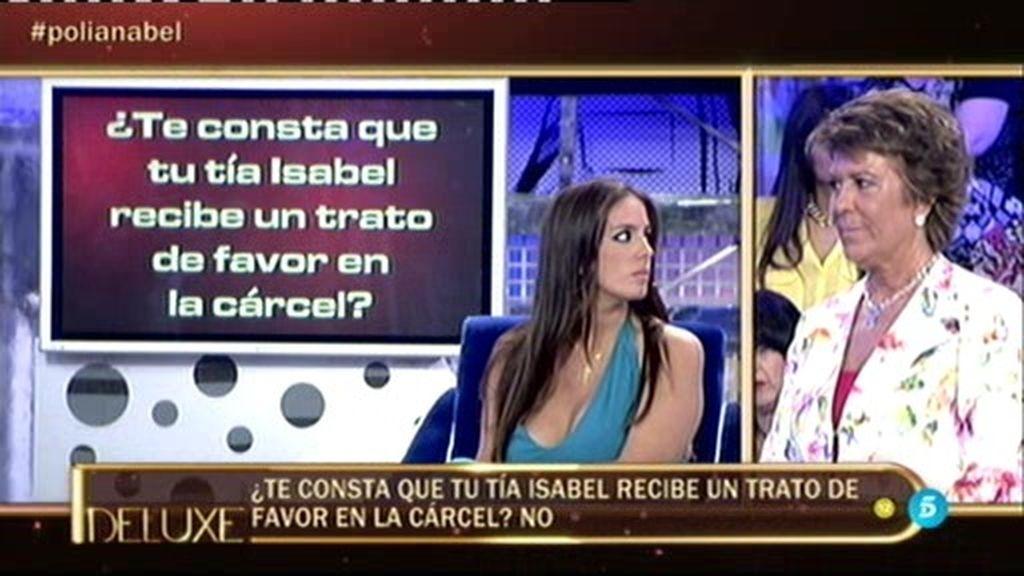 Anabel Pantoja afirma que su tía Isabel no recibe ningún trato de favor en la cárcel
