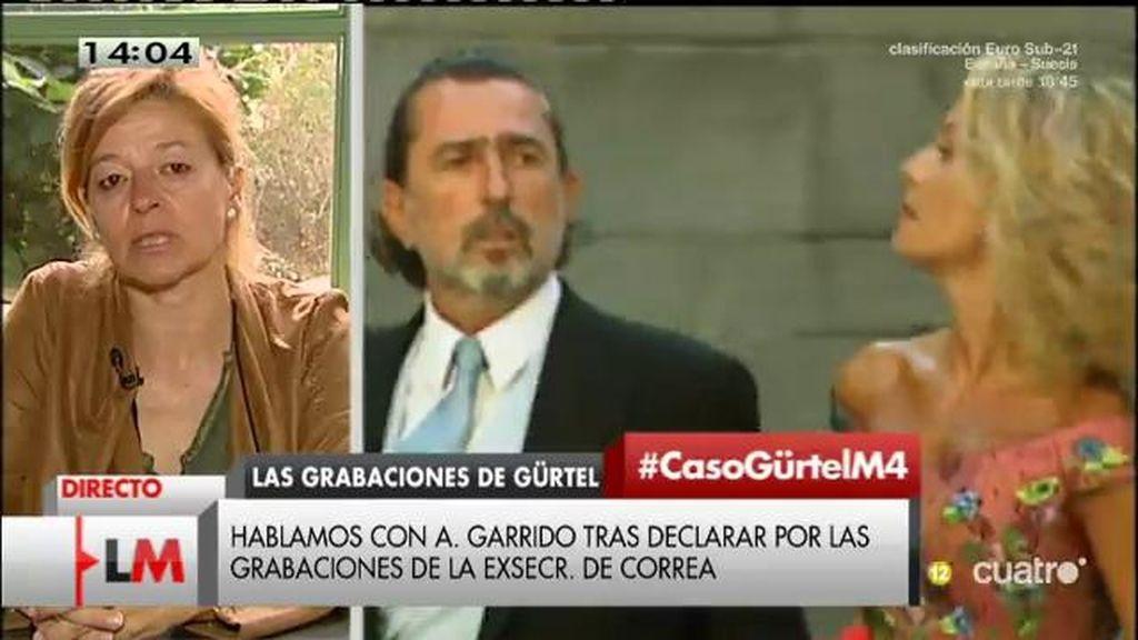"""Ana Garrido: """"Más que un testigo de la fiscalía, me he sentido como una delincuente"""""""