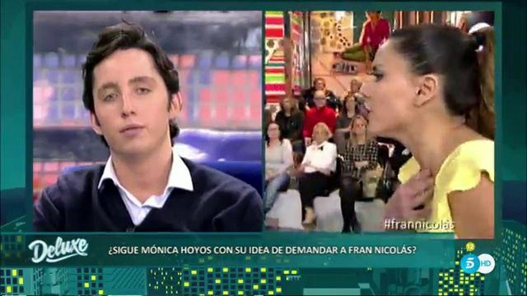 Alta tensión entre Mónica Hoyos y Fran por su comentario sobre Carlos Lozano