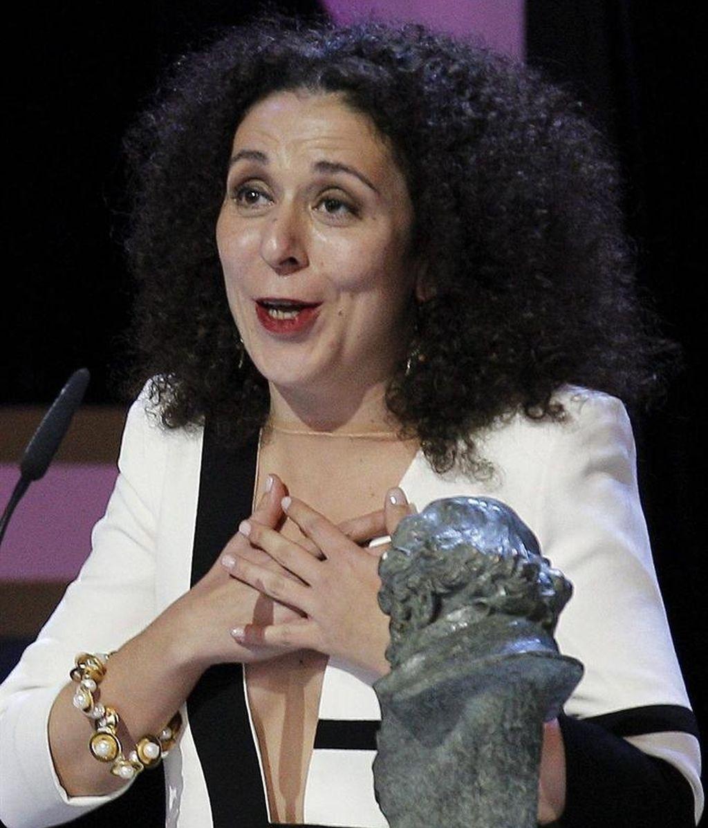 """Sandra Hermida Muñiz, tras recibir el Goya a la mejor dirección de producción por su trabajo en """"Lo imposible"""
