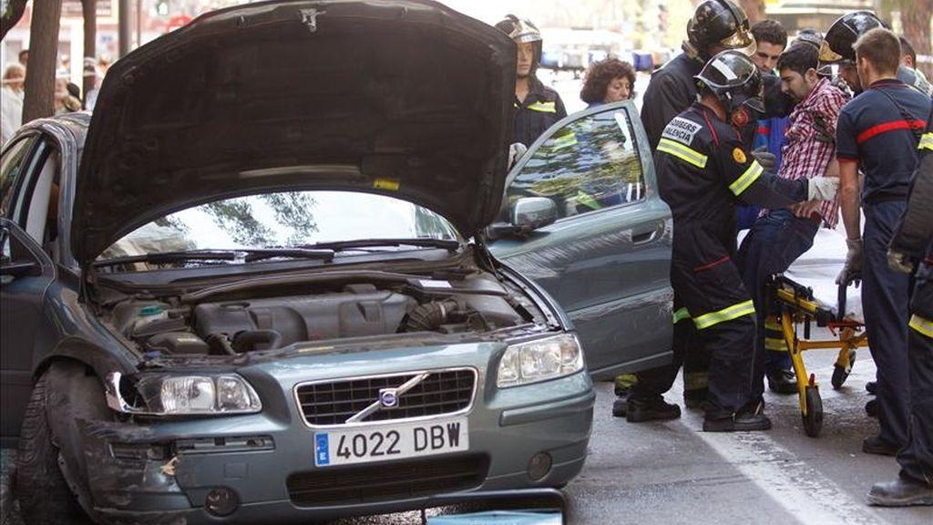 Un accidente registrado en Madrid este fin de semana. EFE