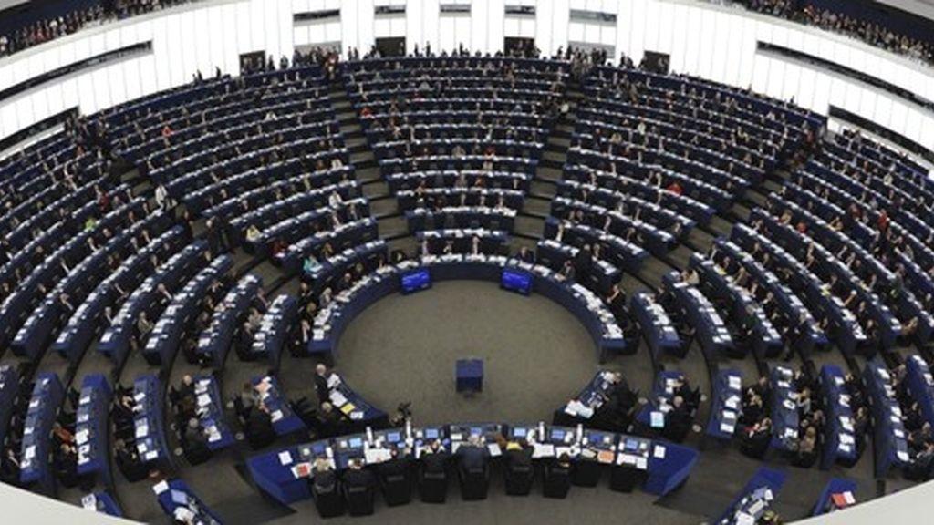 Sala de plenos del Parlamento Europeo