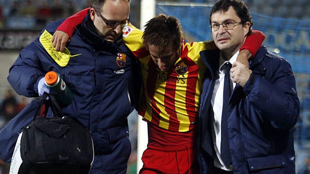 Neymar, lesionado en Getafe