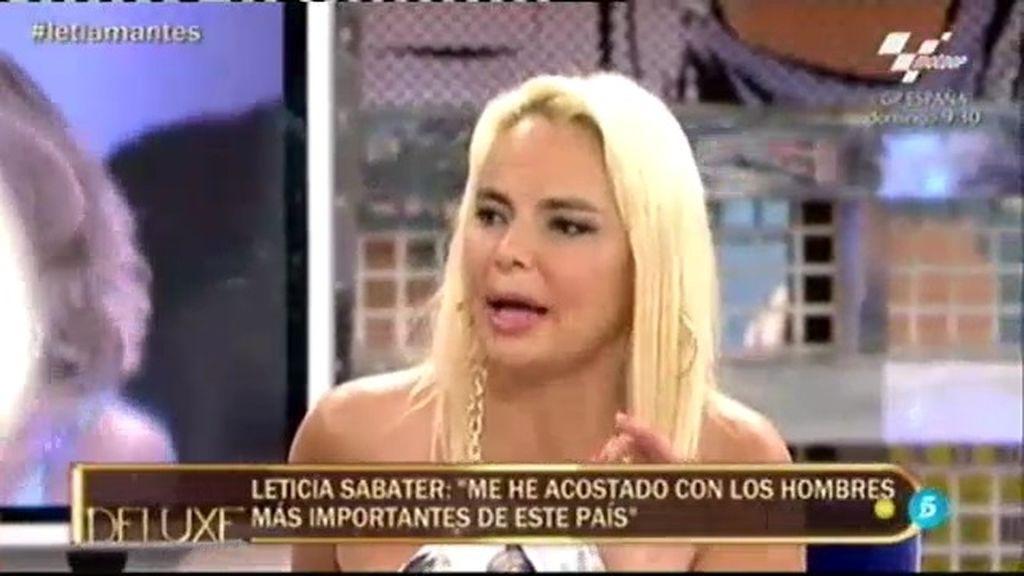 Leticia Sabater y la lista de hombres más importantes con los que ha estado