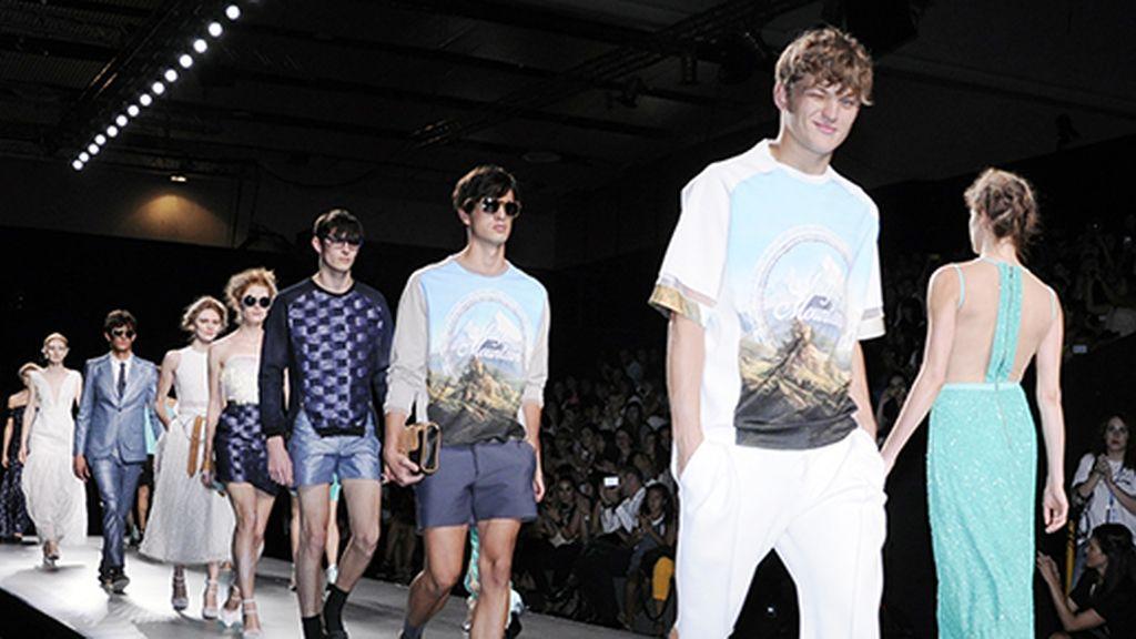 Entre los modelos que desfilaron para Ana descubrimos a Sebastian Sauve