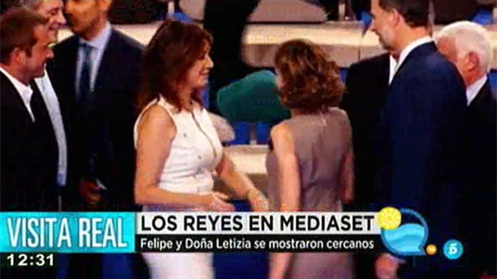 Así fue la visita de los Reyes a Mediaset