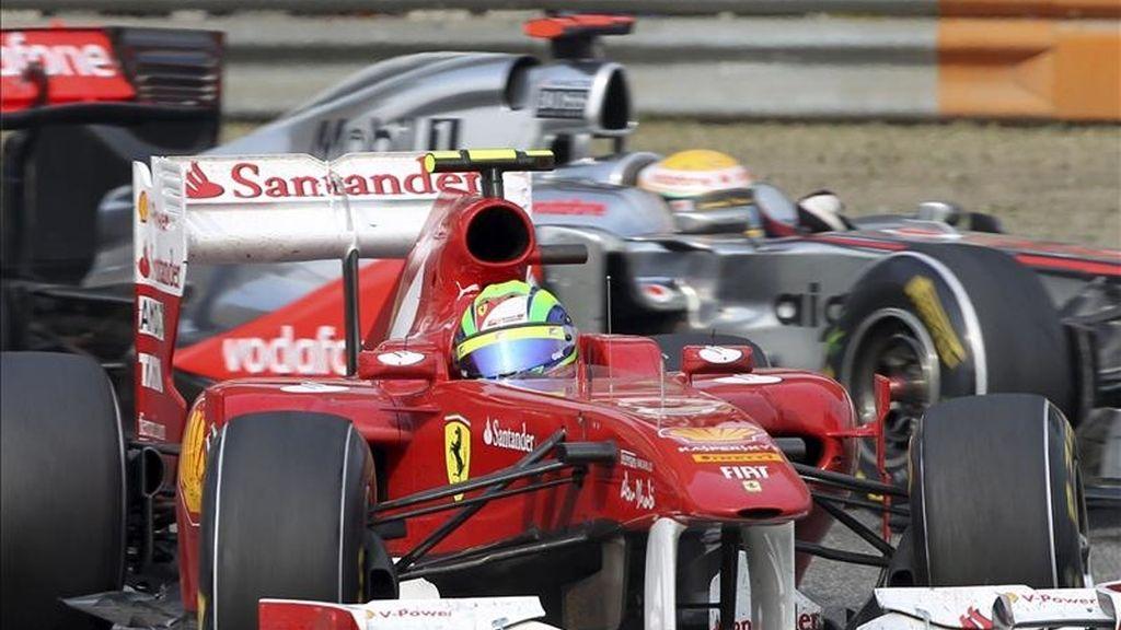 El piloto brasileño de Fórmula Uno Felipe Massa, de la escudería Ferrari, durante el Gran Premio de China de Fórmula Uno, en Shanghái (China), el pasado domingo. EFE