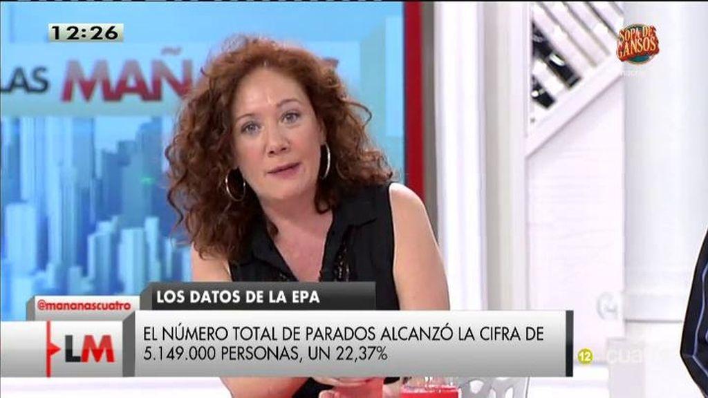 "Cristina Fallaras, sobre el empleo: ""A esto antes se le llamaba atropello o esclavitd"""