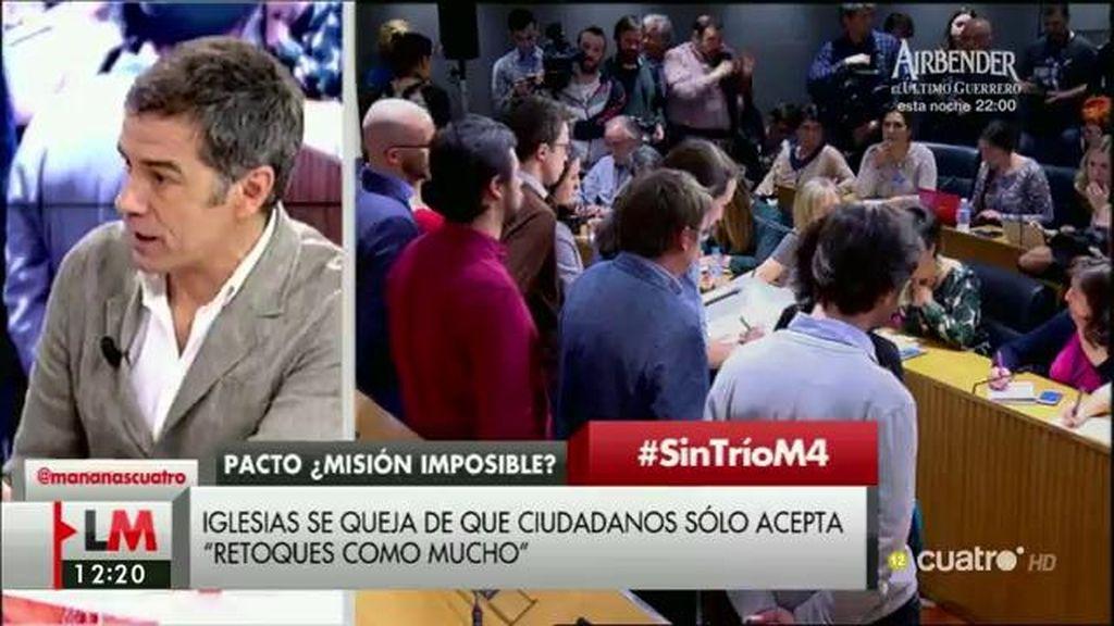 """Toni Cantó, sobre Podemos: """"No se puede salir ahora echando la responsabilidad a los demás porque no hay acuerdo"""""""