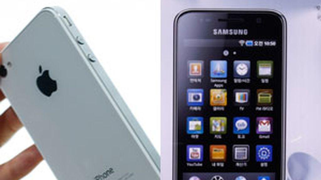 Iphone 4 de Apple y Galaxy de Samsung. Fotos: GTRES
