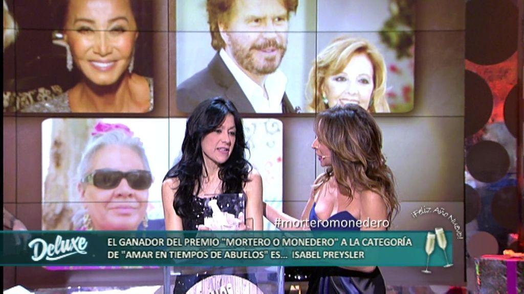 """Premios Mortero o Monedero: Isabel Preysler gana el premio """"Amar en tiempos abuelos"""""""