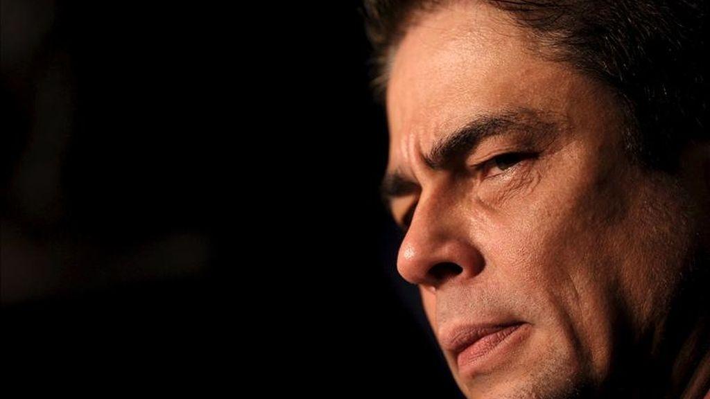 El actor puertorriqueño Benicio del Toro, quien será padre por primera vez, según informa la revista People. EFE/Archivo