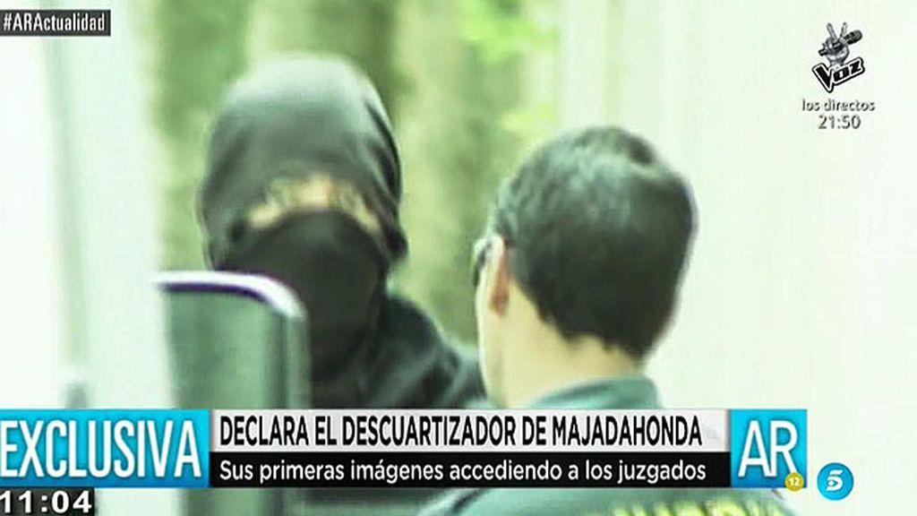 Las imágenes del descuartizador de Majadahonda en los juzgados, en exclusiva