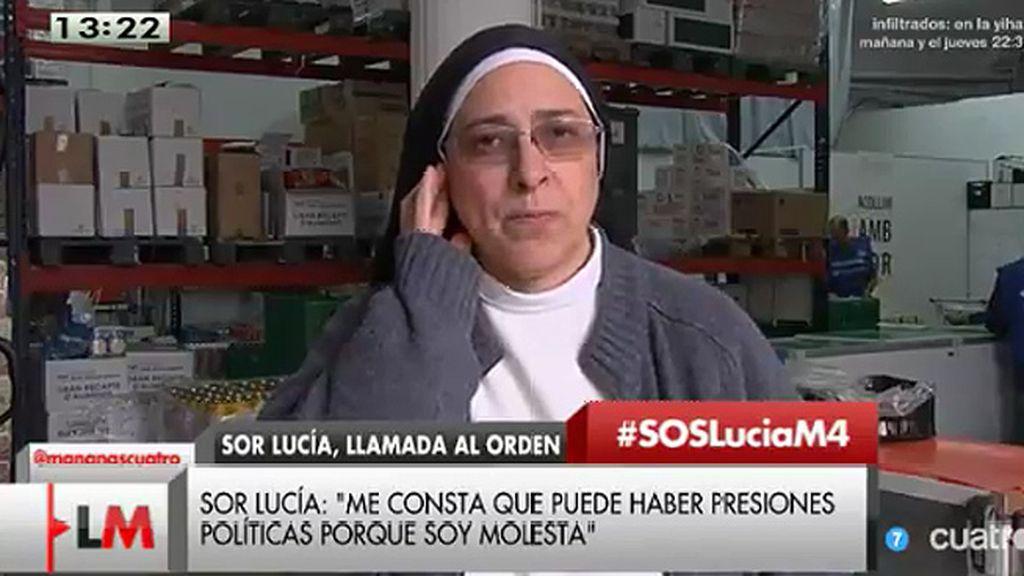 """Sor Lucía Caram: """"Hay presiones por parte del gobierno"""""""
