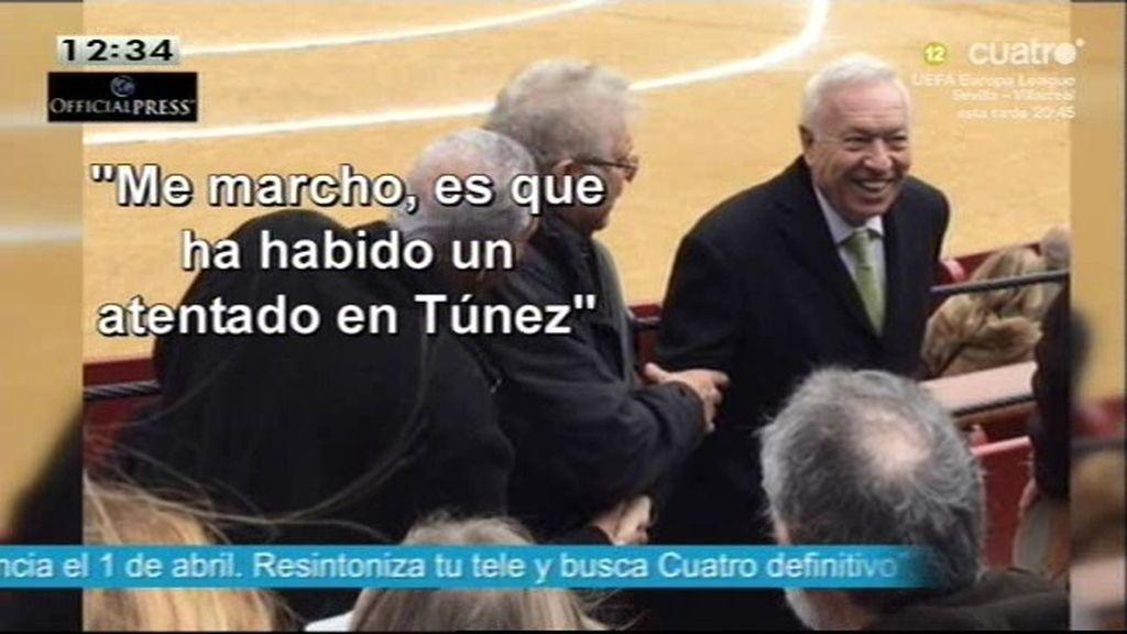Margallo disfrutó en los toros en Fallas horas después del atentado de Túnez