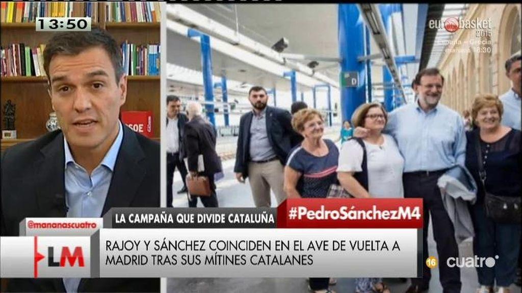 """Pedro Sánchez: """"Creo que el PSOE va a ser la segunda fuerza en Cataluña"""""""
