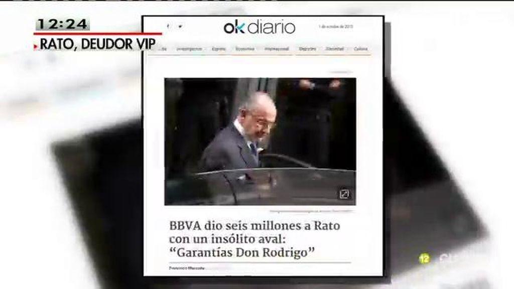 BBVA dio 6 millones a Rato siendo ministro con su nombre como aval, según Okdiario