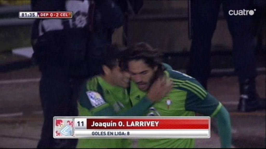 Larrivey sentenció el derbi gallego con una jugada de 'pillo' (0-2)