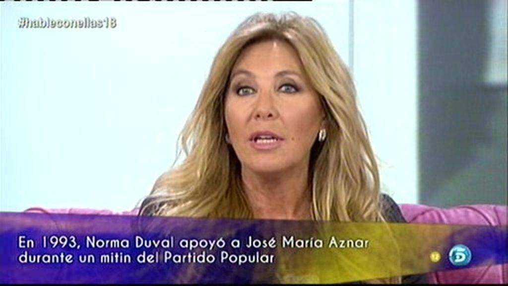 """Norma: """"No estoy arrepentida de haber apoyado a José María Aznar"""""""