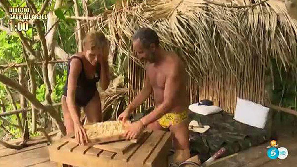 Víctor y Yurena se convierten en 'Superstars' para comerse... ¡la ensaladilla!