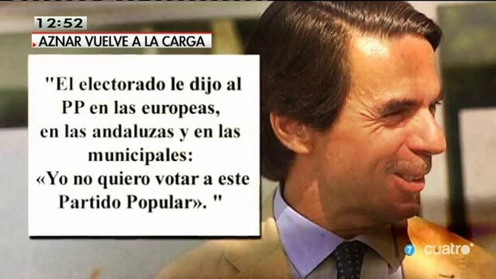 """Aznar, en 'ABC': """"No hay votos cautivos, ni si quiera el mío"""""""