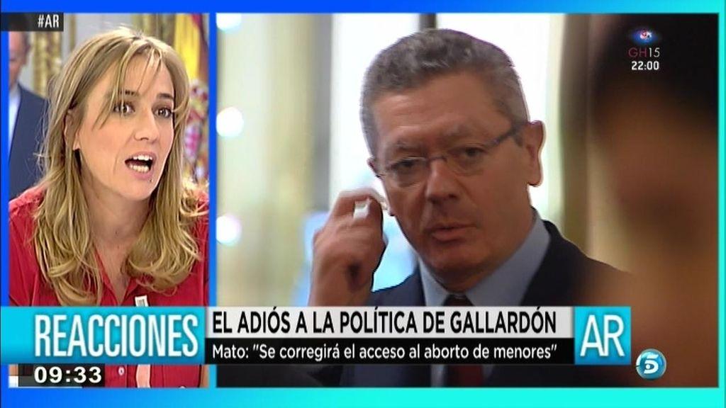 """Tania Sánchez: """"Me cuesta pensar que a Gallardón le han tendido una trampa"""""""