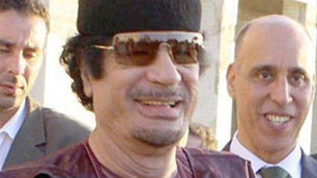 Muammar Gadafi en una imagen de archivo.