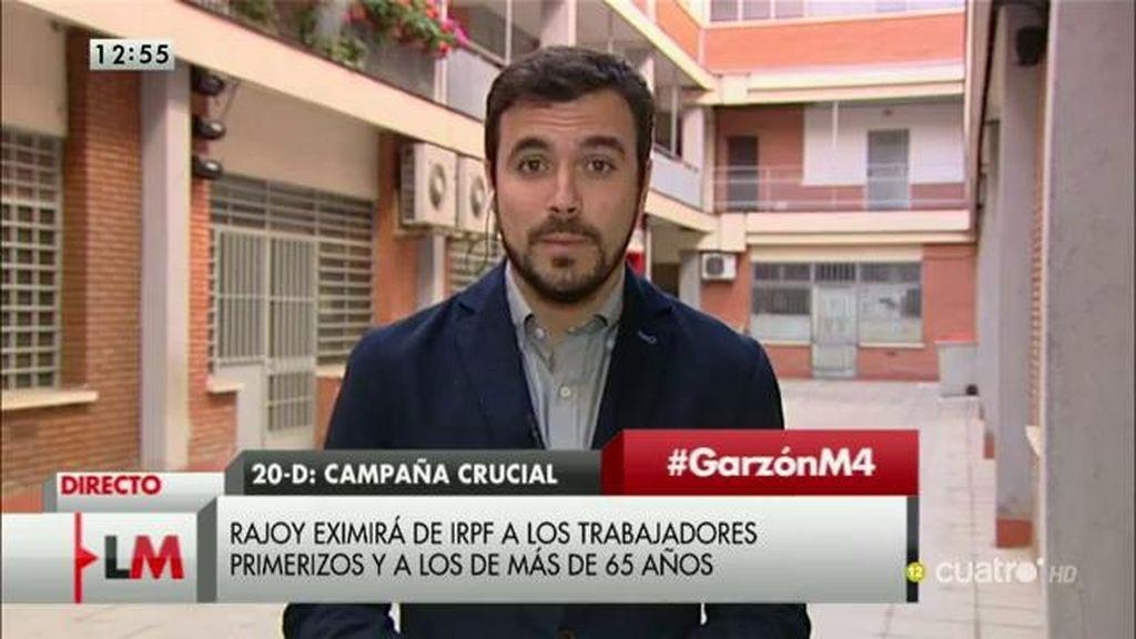 """A.Garzón: """"Lo que hace el PP en campaña electoral, después no se suele cumplir"""""""