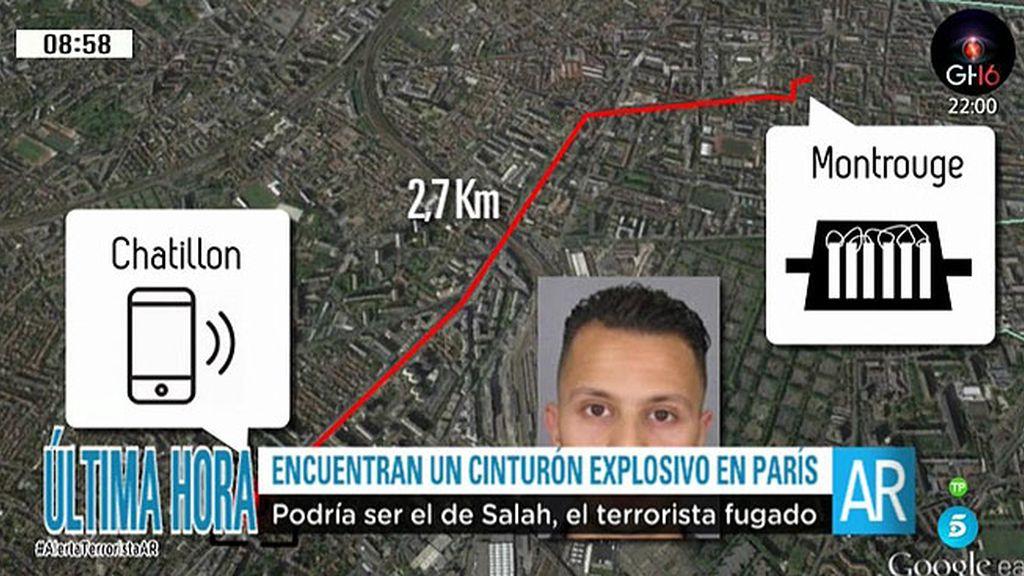 Encontrado un cinturón explosivo en París