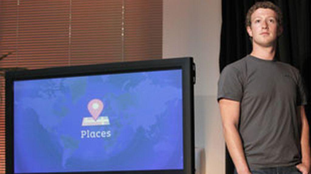 El creador de Facebook presenta su nuevo servicio de localización: Places. Foto: Gtres.