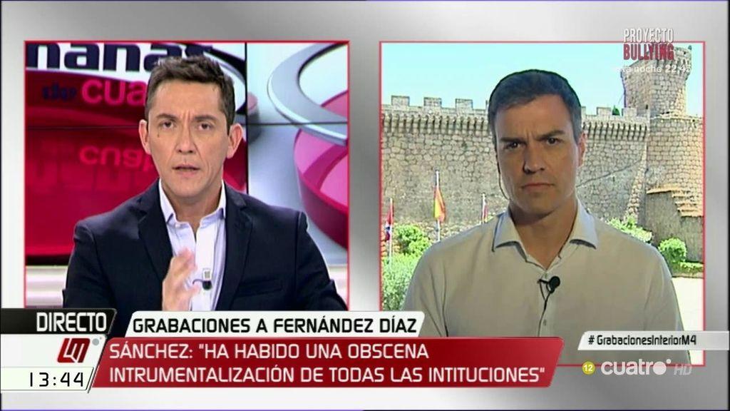 """Sánchez: """"Hemos vivido una instrumentalización de las instituciones hasta la obscenidad de estas grabaciones"""""""