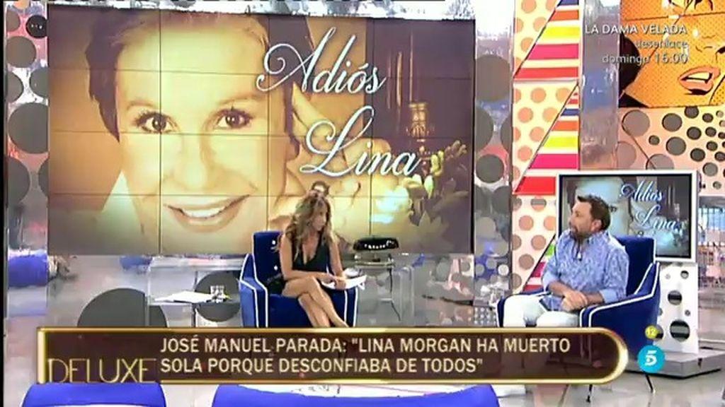 """José Manuel Parada, sobre Lina Morgan: """"No quería que la viese nadie"""""""