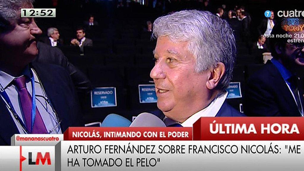 """Arturo Fernández, sobre Francisco Nicolás: """"Creo que me tomó el pleo"""""""
