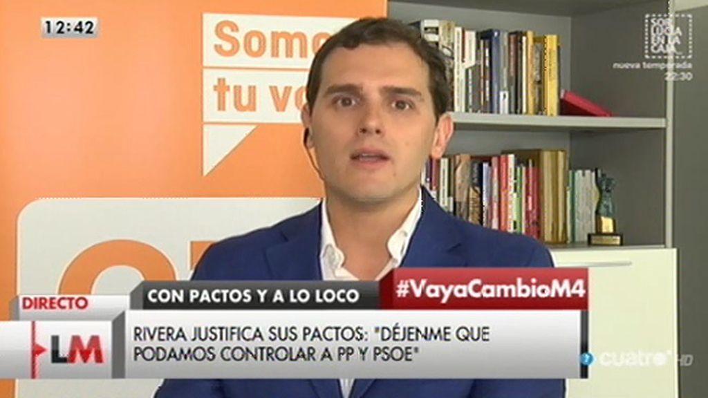 """Rivera: """"Que haya elecciones cada tres meses es la opción de Podemos, la nuestra es exigir y cumplir"""""""