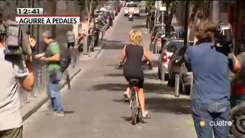 Las dificultades de Aguirre con la bici