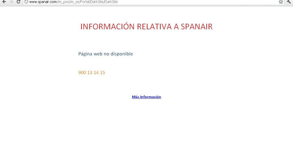 Spanair echa el cierre también a su web