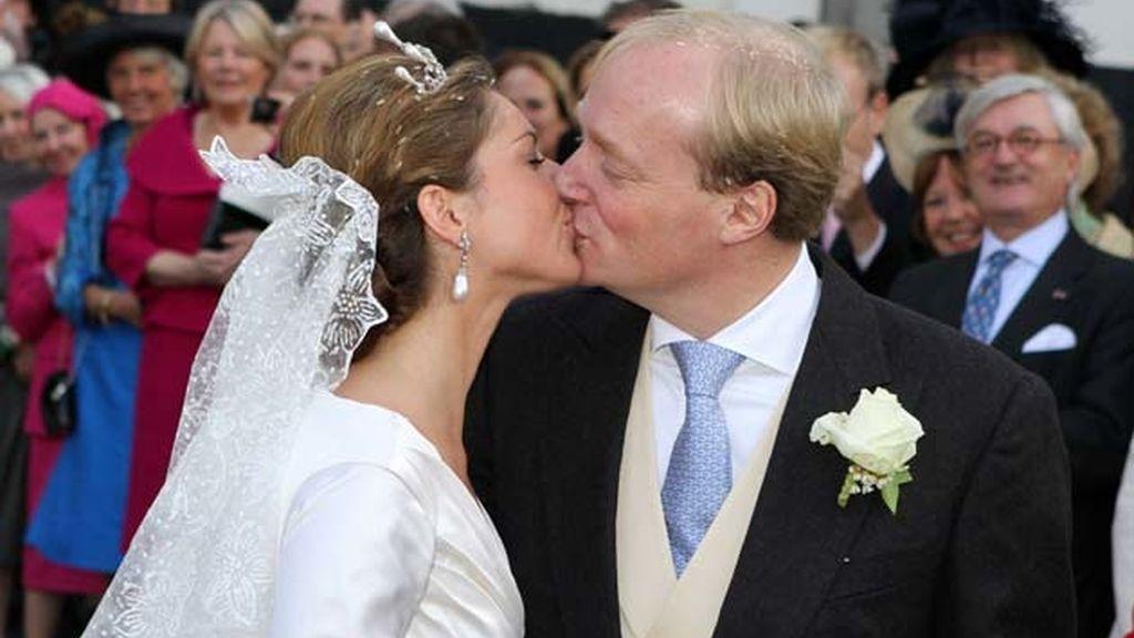 El príncipe Carlos de Borbón y Annemarie de Borbón