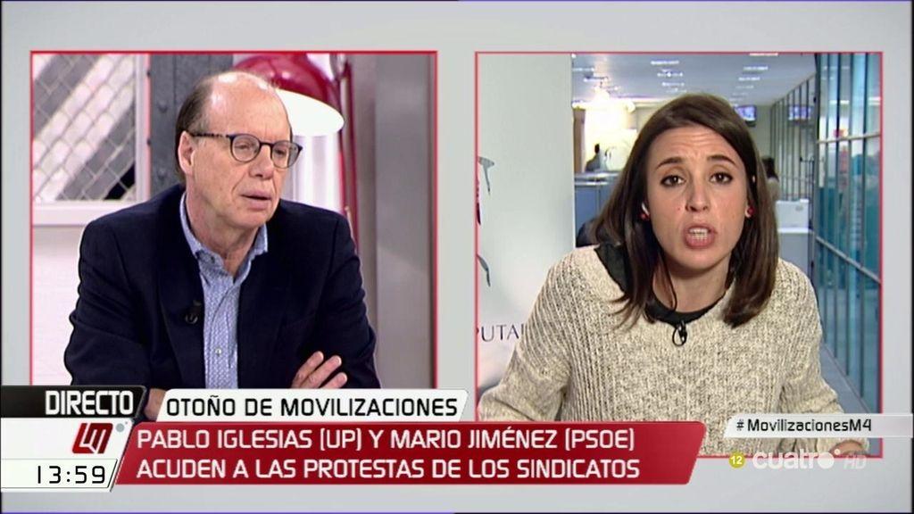 """Irene Montero: """"Los Derechos Humanos no pueden medirse en cifras o datos"""""""