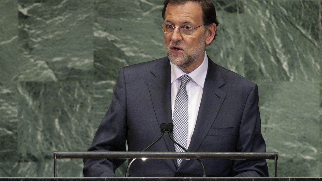 Rajoy durante su intervención en la Asamblea General de la ONU