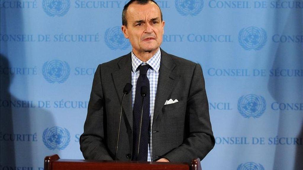 """El presidente del Consejo de Seguridad de la ONU, Gérard Araud, reconoció que """"las partes enfrentadas siguen muy alejadas"""" y que """"sus posiciones ahora mismo no son compatibles"""". EFE/Archivo"""