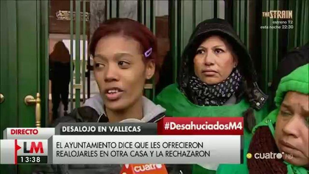 Masiel, 24 años y madre de dos hijos, desalojada de la casa que ocupaba