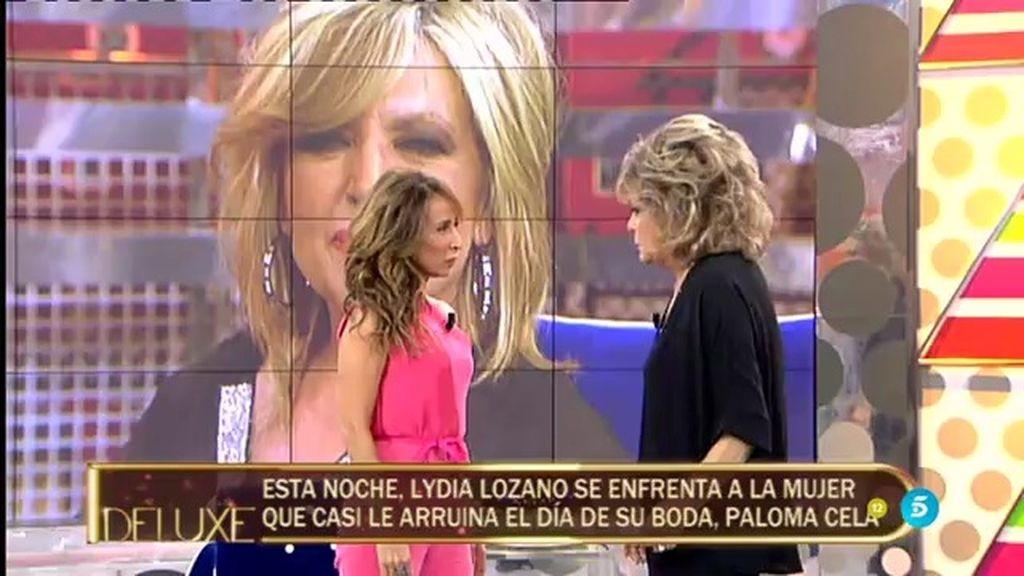 ¡Así fue el encuentro de Paloma Cela con Lydia Lozano el día de su boda!