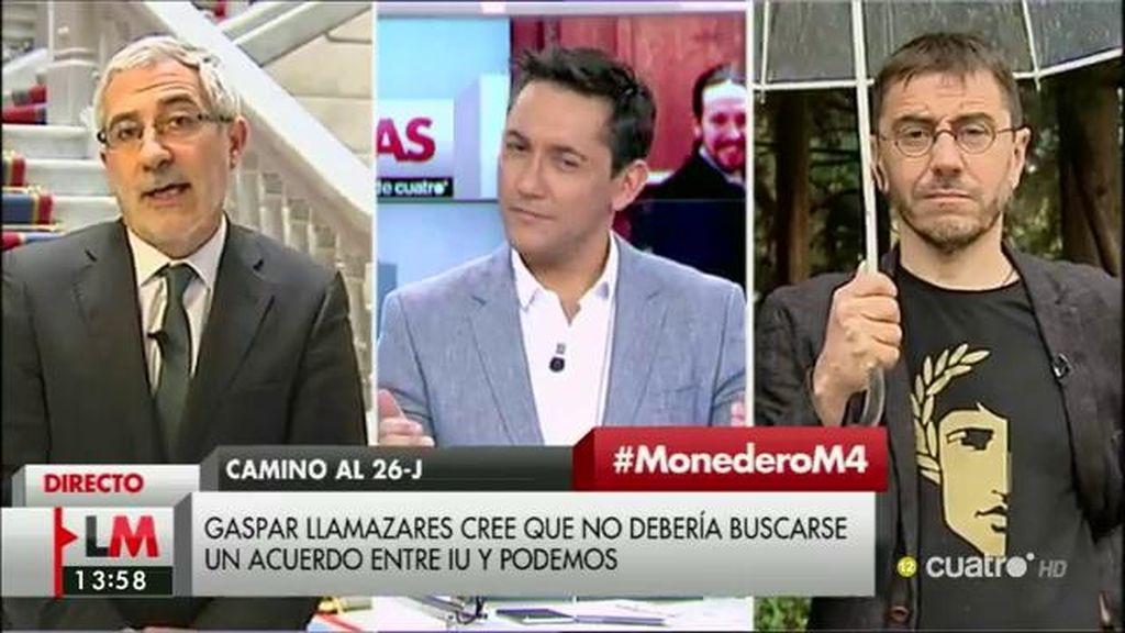 """Llamazares: """"Es la crónica de la disolución de IU en las candidaturas de Podemos"""""""