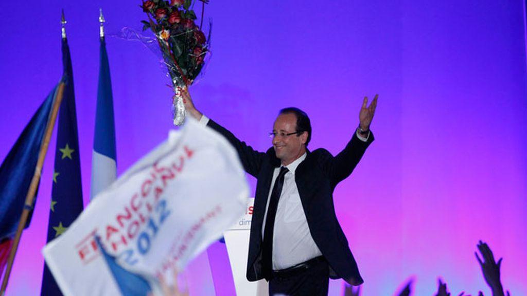 François Hollande, victoria, Francia
