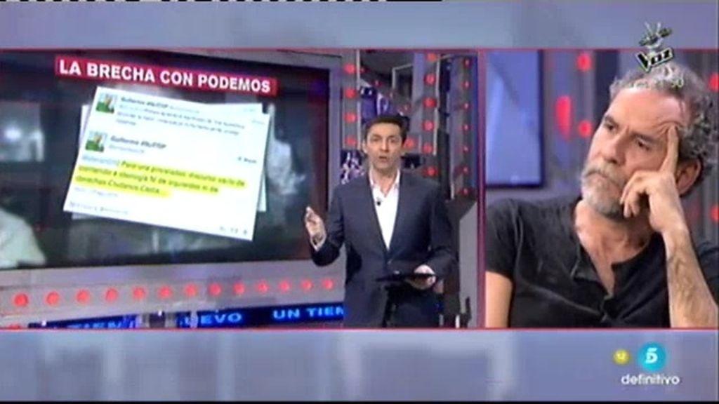 """Willy Toledo, sobre Podemos: """"Odio ninguno. Es una crítica constructiva"""""""