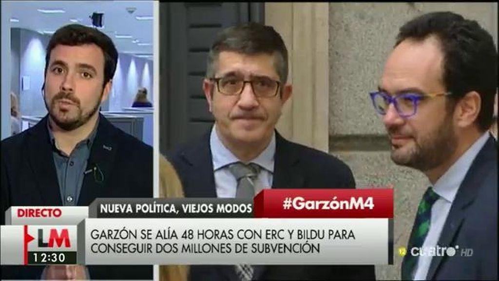 """Garzón, de Podemos: """"Nos impidió hacer un grupo para que los valencianos tuvieran grupo propio y estuviéramos nosotros"""""""