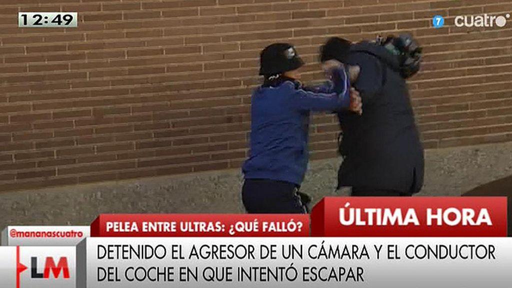 Un cámara de Mediaset, agredido a la salida del féretro del ultra fallecido
