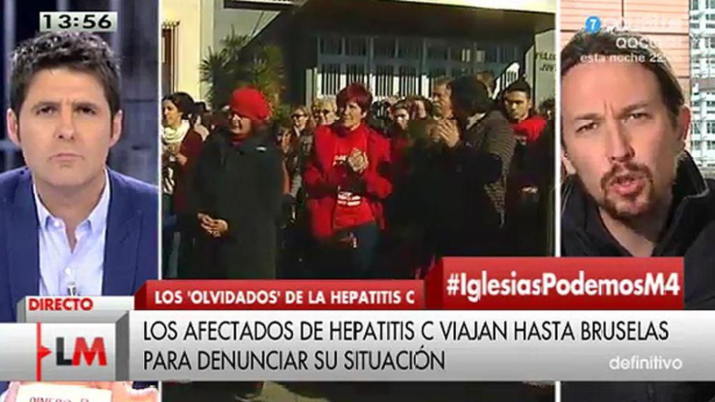 """Pablo Iglesias: """"La salud de la gente no es una cuestión de partidos"""""""
