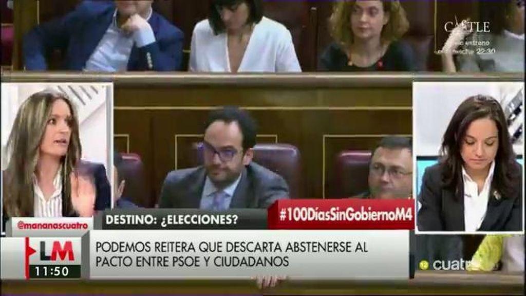 """A. Ballester (Podemos): """"Lo que no nos gusta es un acuerdo donde el PSOE renuncia a medidas sociales para pactar con C's"""""""